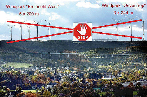 8 Windräder STOP Oeventrop