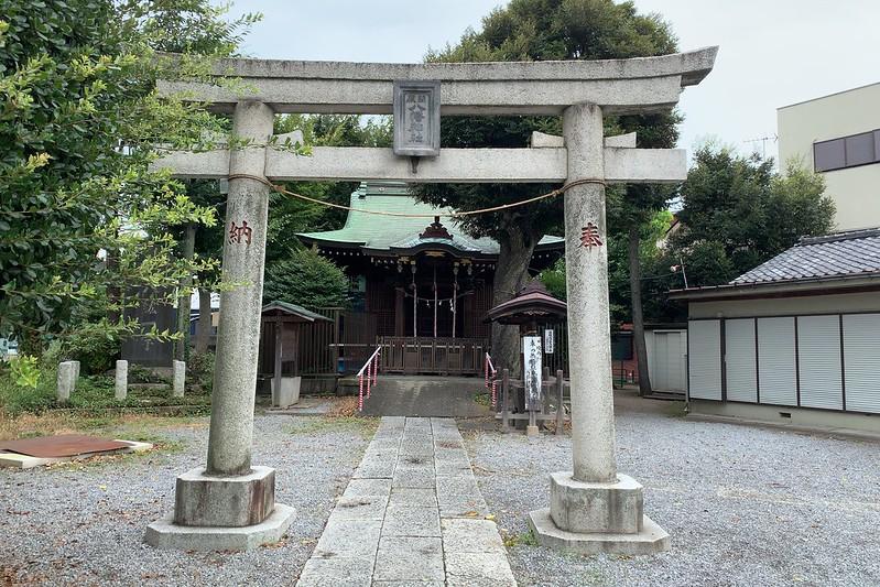 偽 東京いい道しぶい道 西新井関原通り通り 関原通り関原八幡神社