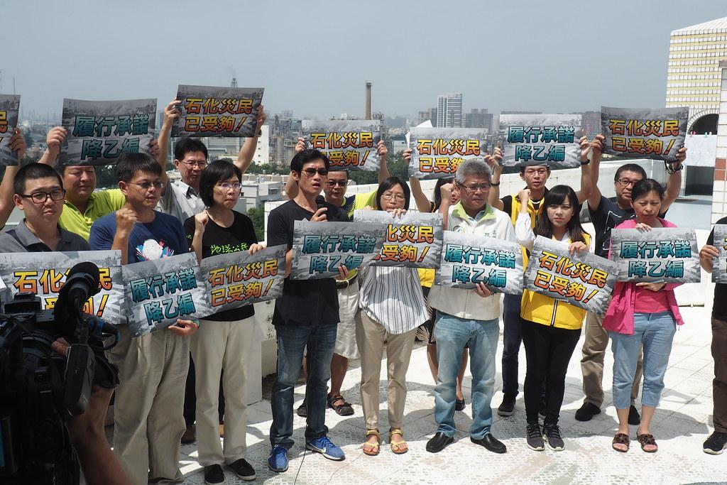 大社環境守護聯盟28日召開記者會,要求都審委員到社區現勘。攝影:李育琴