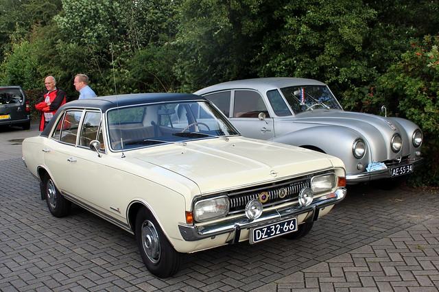1970 Opel Commodore and (1948 Tatra 87)