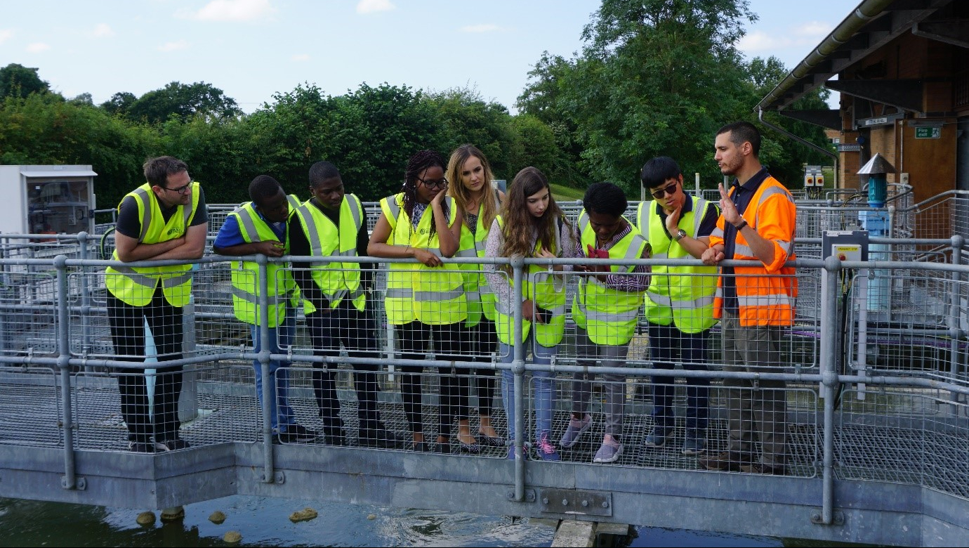 Process Scientist at Wessex Water, Adam Ben Rabha, hosted the group on site and answered questions on the water treatment processes.