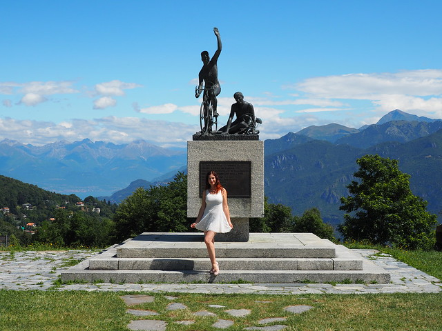 Monument to cyclists - Lake Como Italy