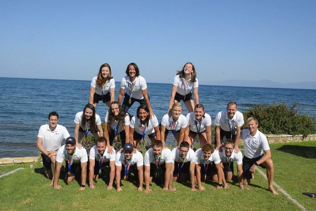 Jeux Méditerranéens de plage Patras 2019 - Les médaillés de l'aviron de plage