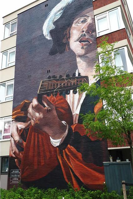 Street art in Utrecht, De Luitspeler