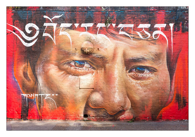 Street Art (Adnate), East London, England.