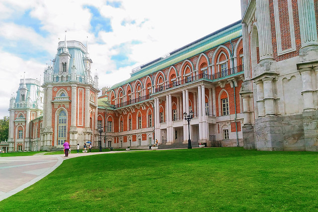The grand palace in Tsaritsyno park, Moscow