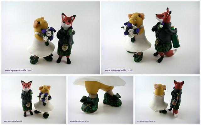 Fox & Guinea Pig Wedding Toppers
