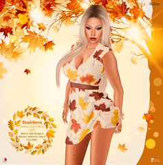 ::Autumn Leaves Dress ::@Dazzle Event GIFT