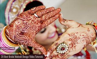 20 Best Bridal Mehndi Design Video Tutorials - Full Hand Mehndi designs