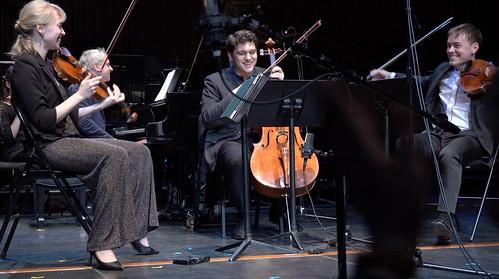 Robyn Bollinger, Violin; Matthew Lipman, Viola; Gabriel Cabezas, Cello; Jeremy Denk, Piano  Credit Andy Park-124