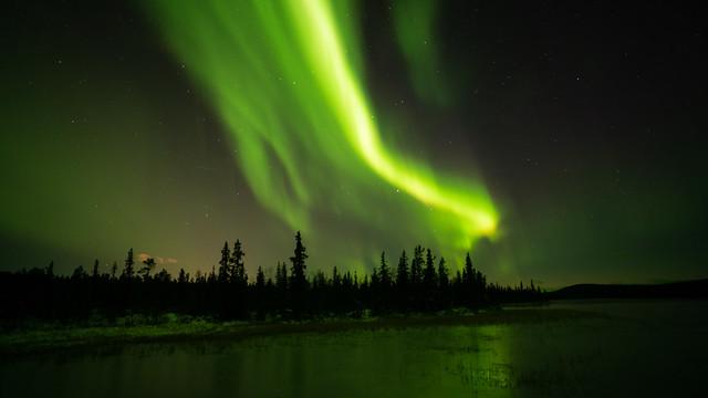 Aurora Borealis in Swedish Lappland