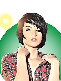 American model, Melissa Clarke.