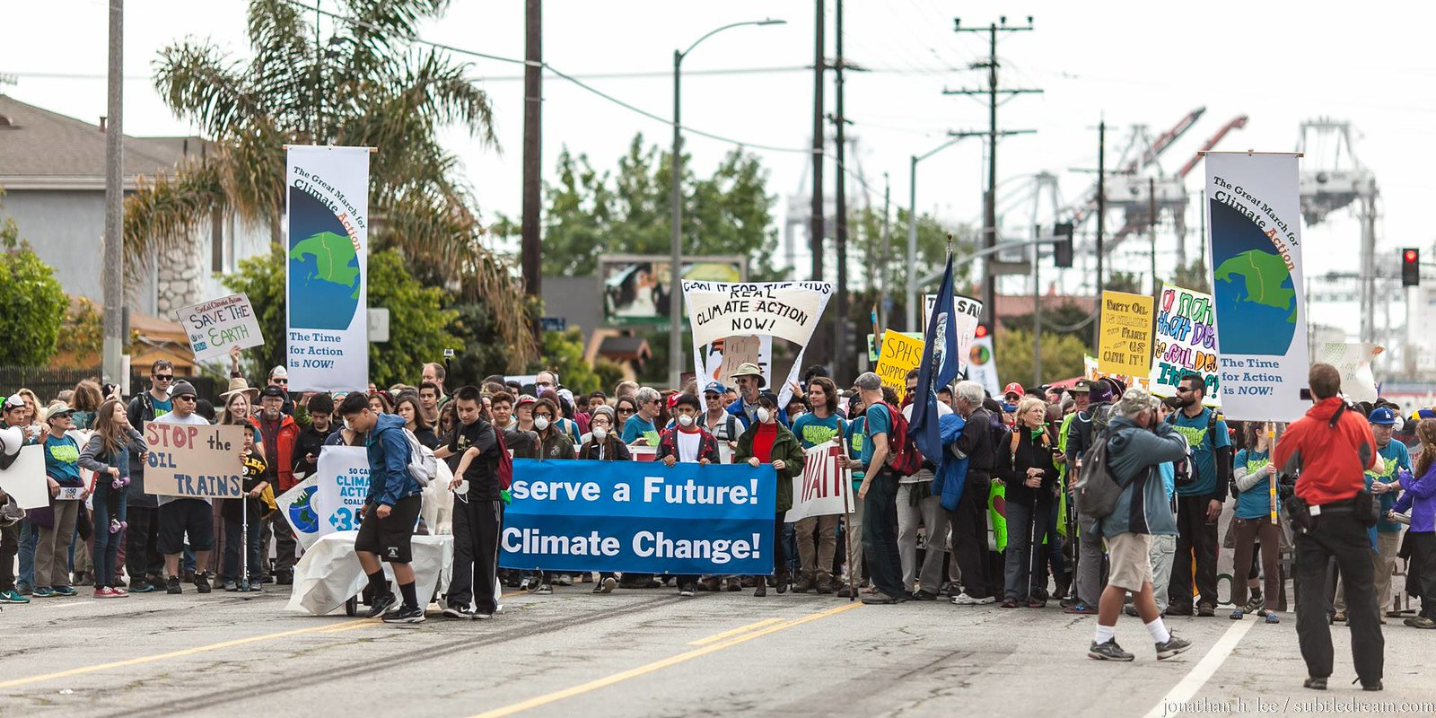 photo of great march for climate action