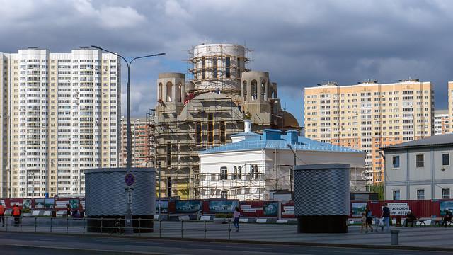 Строительство храма Покрова Пресвятой Богородицы