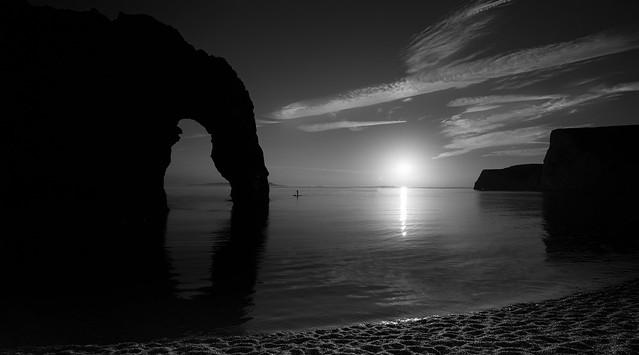 Bw sunset