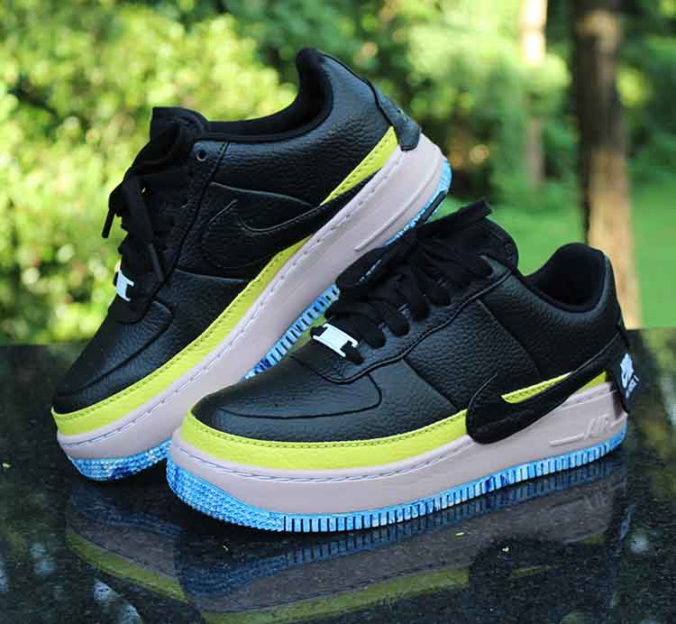 Nike Air Force 1 Jester XX SE Women/'s Size 8 BLACK//BLACK-SONIC YELLOW AT2497 001