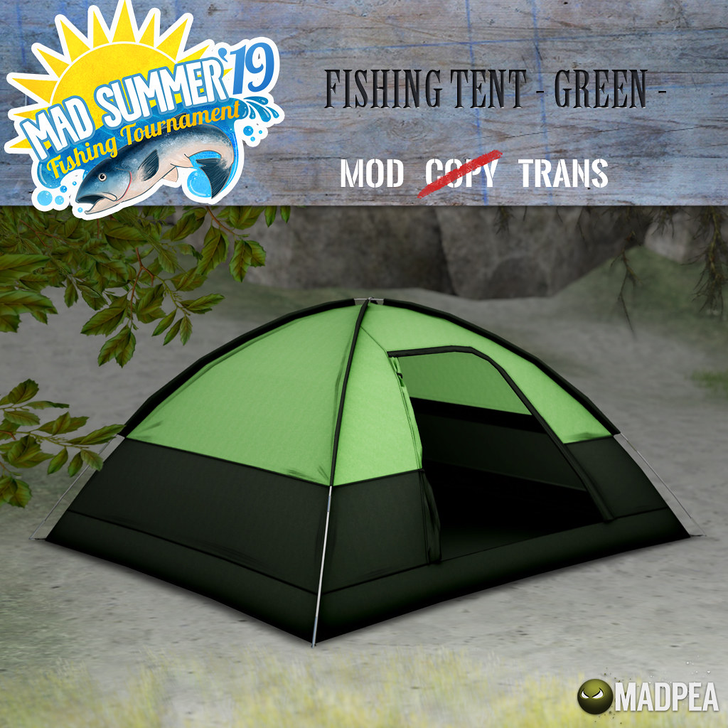 MadPea Mad Summer '19 Fishing Tournament Shiny:  Fishing Tent – Green!