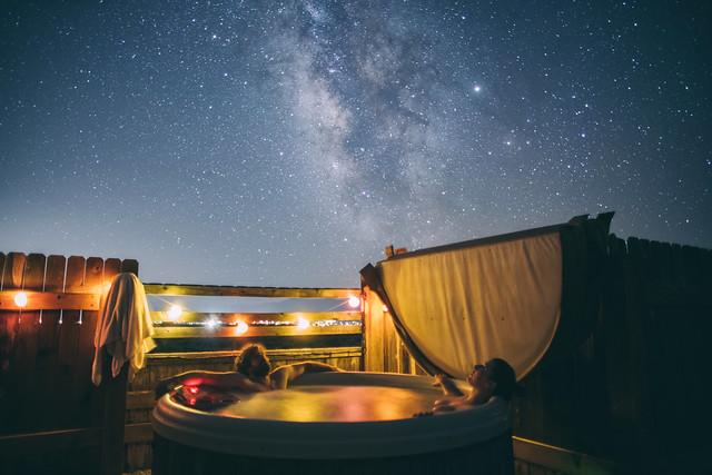 Enjoying the night sky