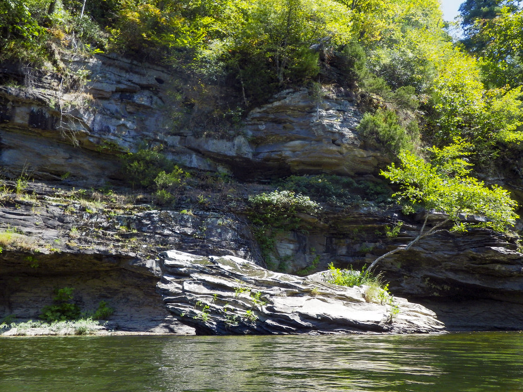 Sandstone outcrop, Obed River, Obed Wild and Scenic River, Morgan County, Tennessee