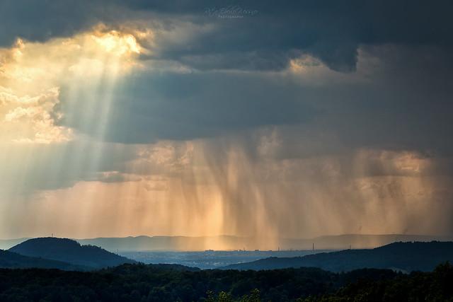 Sun, rain and clouds