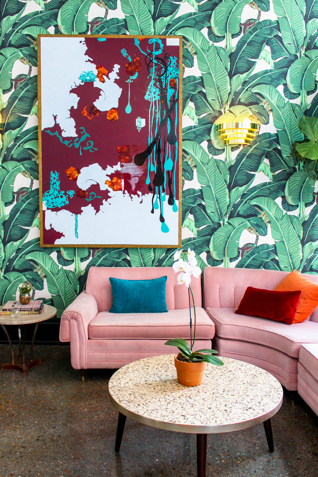 The Dwell Hotel Chattanooga Tennesee | Pink and Green Living Room Inspiration | 20 Photos That Will Prove Decorating with Pink and Green is the Next Big Thing
