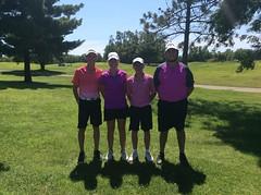 Harry Mussatto Golf Course  L-r: Conner Hamm, Emma Thorman, Braeden Duncan, Blaine Sutton