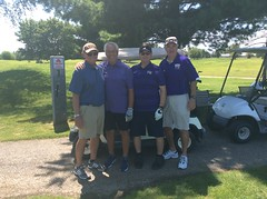 Harry Mussatto Golf Course  L-r: Tom Schmulbach '70 '84, Frank Yaccino '70, Ron Comm '70, Mike Brewers '70 '82 '01