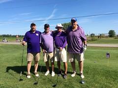 Harry Mussatto Golf Course L-r: John Biernbaum '14, Tom Cody, Mike Waters, Jim Miner '72 '73