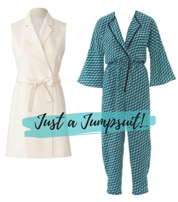 Waistcoat Trend Pattern Jumpsuit
