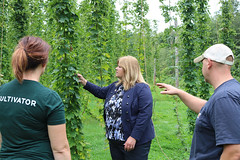 Rep. Haines toured Hop Culture in Colchester with owners Heather and Sam Wilson