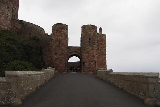 Bamburgh Castle entrance