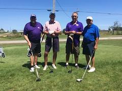 Harry Mussatto Golf Course  L-r: Kirk Dillard '77 '15, Dave Wickness '68 '69, Tom Tomaszewski '70 '72, Todd Sieben '67