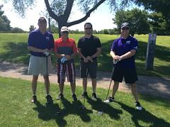 Harry Mussatto Golf Course  L-r: Pat Osterman, David Cady, Jordan Ball, Adrian Mac Gregor '93 '00