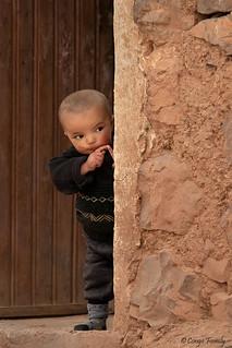 Berber child in an Atlas village