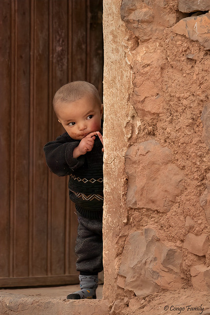 Berber child in an Atlas village
