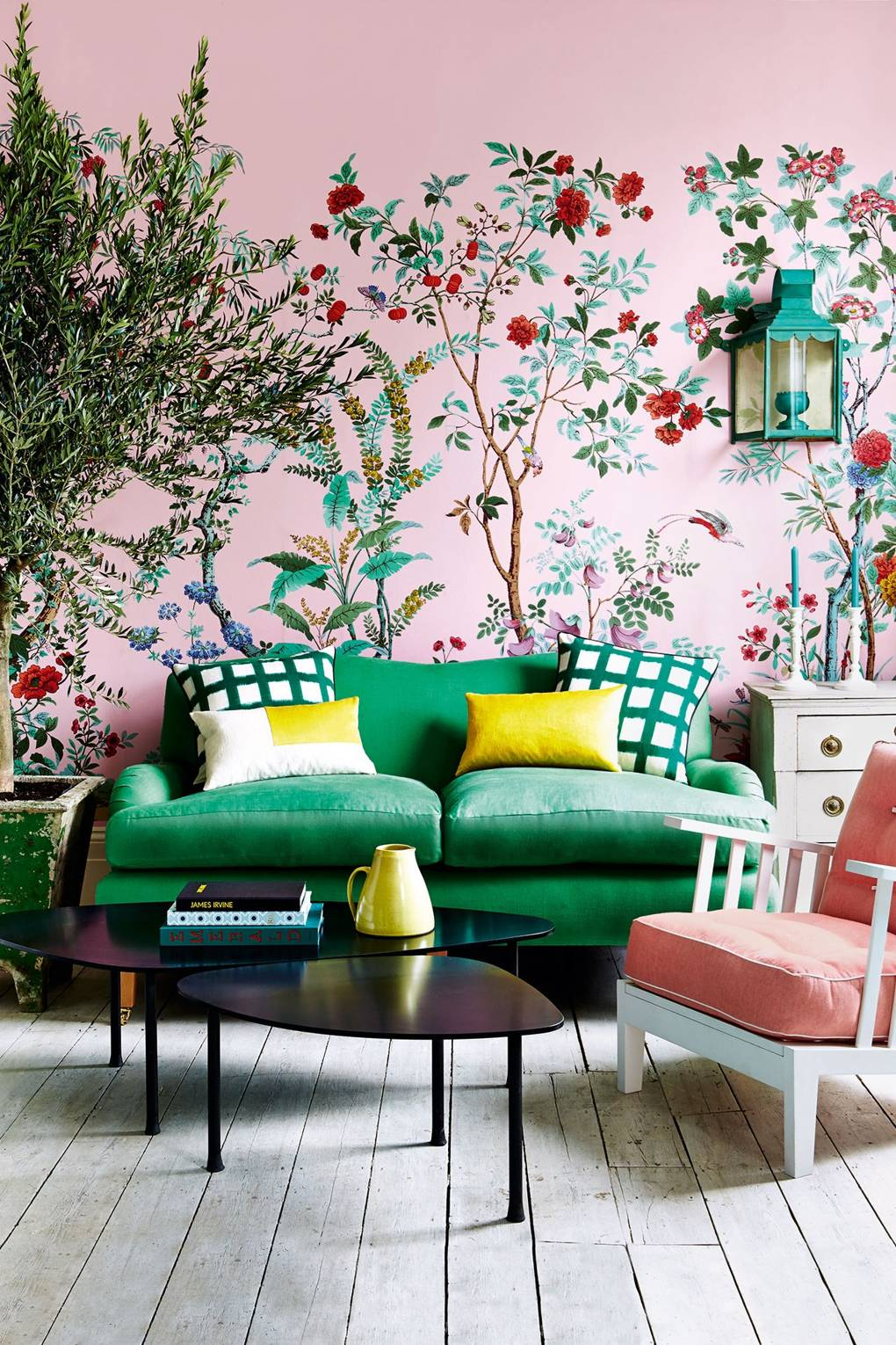 Pink and Green Living Room Inspiration   20 Photos That Will Prove Decorating with Pink and Green is the Next Big Thing