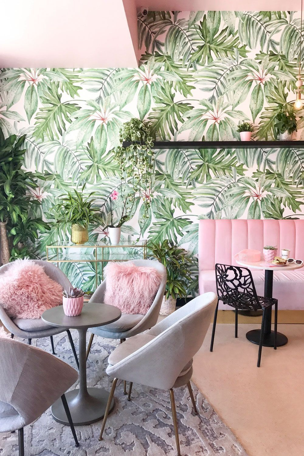 Holy Matcha San Diego | Pink and Green Modern Living Room Inspiration | 20 Photos That Will Prove Decorating with Pink and Green is the Next Big Thing