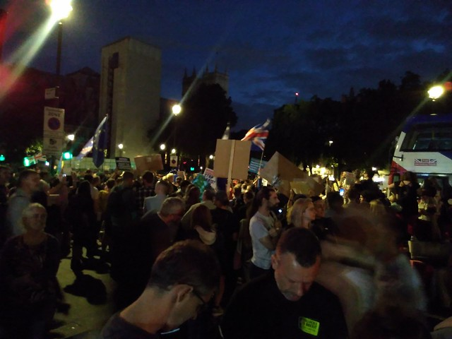 The anti-coup protest in parliament square