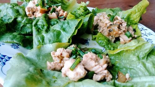 Pressure Cooker Chicken Lettuce Wraps