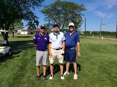 Harry Mussatto Golf Course  L-r: Michael Lukkarinen '97 '98, John Maguire '73 '80, George Maguire '69