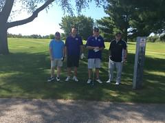 Harry Mussatto Golf Course  L-r: Brandon Nelson, Tim Thorman '10, Bill Howard, Neal Thurman
