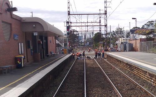 Glenhuntly level crossing renewal, August 2009