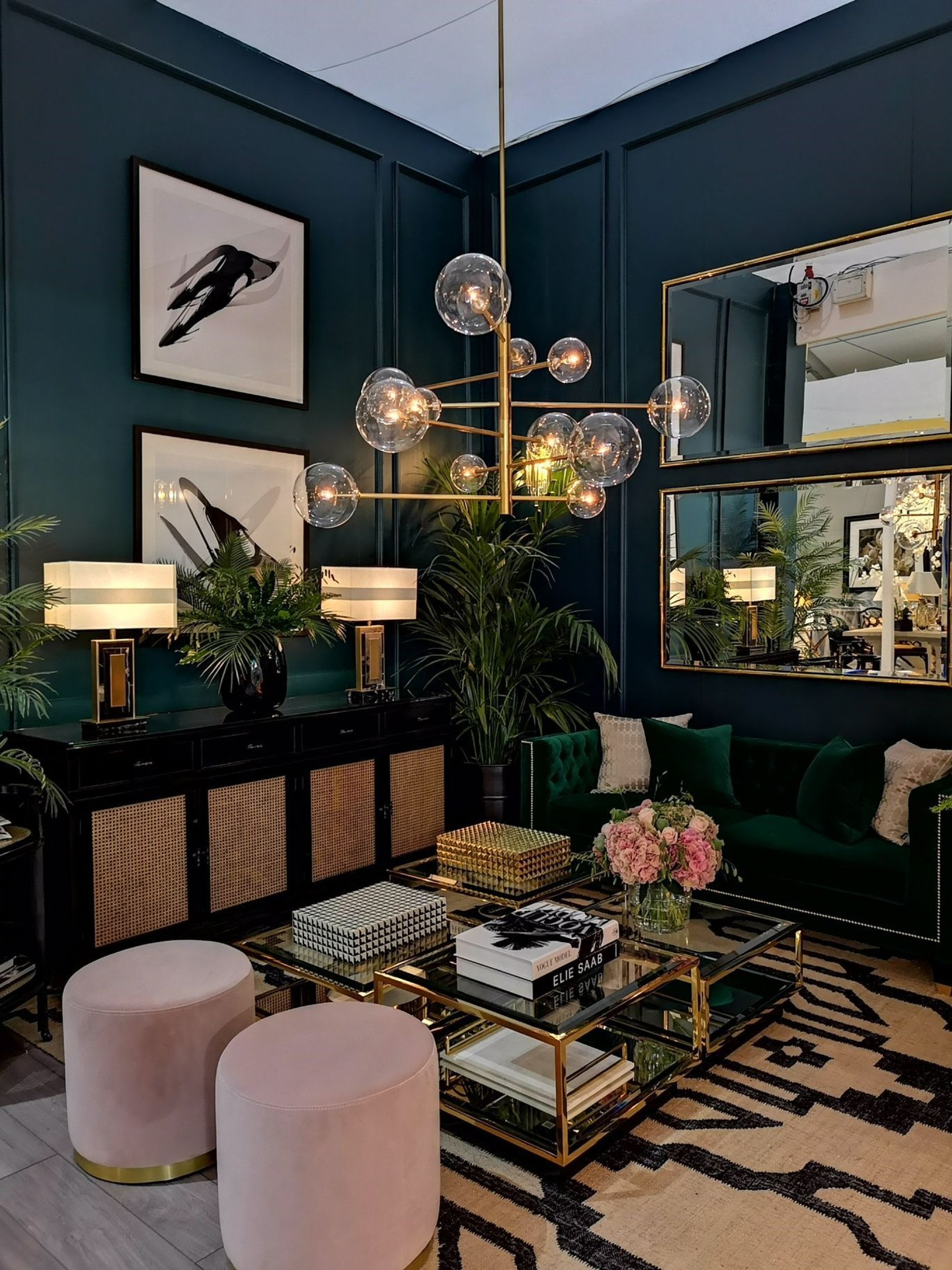 Pink and Green Contemporary Living Room Inspiration   20 Photos That Will Prove Decorating with Pink and Green is the Next Big Thing