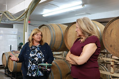 Rep. Haines toured Priam Vineyards with co-owners Gloria Priam and Jim Melillo