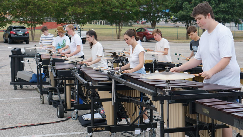 Percussion rehearsal 8-27-19 (DW)