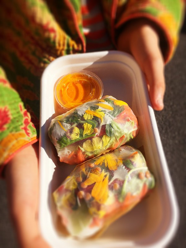 Beautiful rice paper rolls. Yamba Farmer's Market