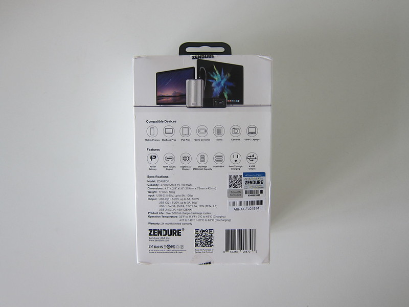 Zendure SuperTank - Box Back