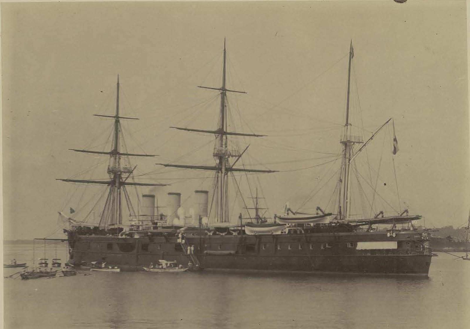 Крейсер Память Азова в Коломбо