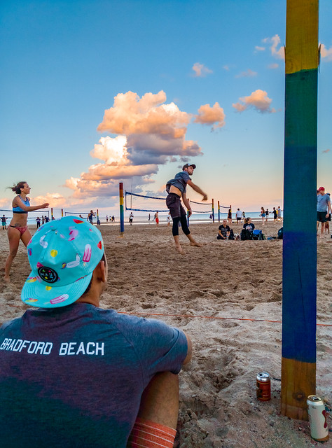Beach Volleyball Sunset
