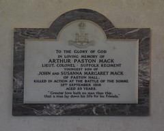 Arthur Paston Mack killed in action at the Battle of the Somme